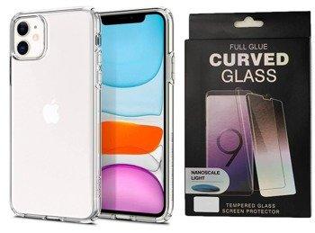 Etui SPIGEN LIQUID CRYSTAL IPHONE 11 przezroczysty +szkło UV