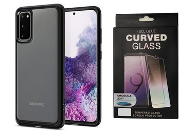 Etui pancerne SPIGEN ULTRA HYBRID Samsung Galaxy S20 MATTE BLACK +szkło UV