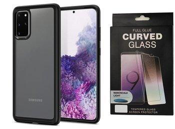 Etui pancerne SPIGEN ULTRA HYBRID Samsung Galaxy S20+ PLUS MATTE BLACK +szkło UV