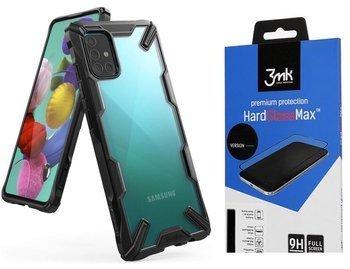RINGKE FUSION X GALAXY A51 BLACK +szkło 3MK HG Lite