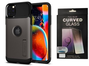 SPIGEN SLIM ARMOR IPHONE 11 PRO GUNMETAL + szkło 5D UV