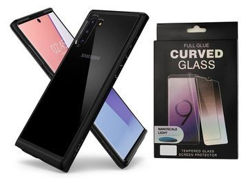 SPIGEN ULTRA HYBRID GALAXY NOTE 10 MATTE BLACK +szkło UV
