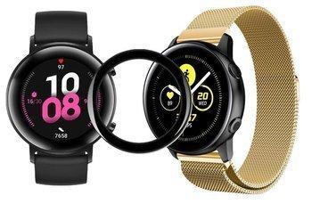 TECH-PROTECT MILANESE opaska pasek bransoleta BAND Huawei Watch GT 2 42MM GOLD + szkło 5D