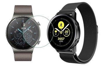 TECH-PROTECT MILANESE opaska pasek bransoleta BAND Huawei Watch GT 2 PRO 46mm BLACK +szkło hartowane na ekran