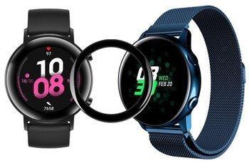 TECH-PROTECT MILANESE opaska pasek bransoleta BAND Huawei Watch GT 2 niebieska + szkło 5D