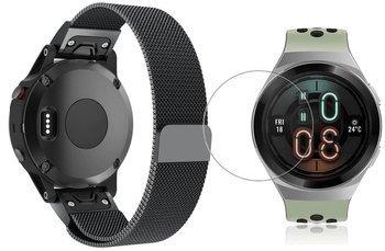 TECH-PROTECT MILANESE opaska pasek bransoleta BAND Huawei Watch GT 2e 46mm BLACK +szkło hartowane na ekran