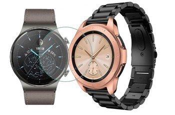 TECH-PROTECT opaska pasek bransoleta STAINLESS Huawei Watch GT 2 PRO 46mm BLACK +szkło hartowane na ekran