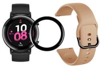 opaska pasek bransoleta GEARBAND Huawei Watch GT 2 42MM khaki + szkło 5D