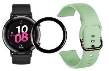 opaska pasek bransoleta GEARBAND Huawei Watch GT 2 42MM miętowa + szkło 5D