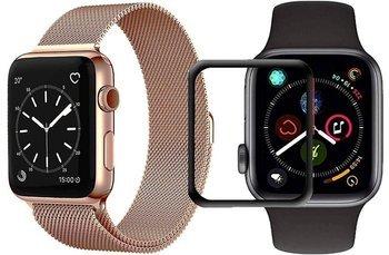 opaska pasek bransoleta MILANESEBAND Apple Watch 4/5 40mm ROSE GOLD +szkło 5D