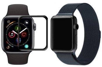opaska pasek bransoleta MILANESEBAND Apple Watch 4/5/6/SE 44mm SPACE GRAY +szkło 5D