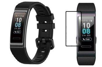 opaska pasek bransoleta SMOOTHBAND Huawei BAND 4 PRO czarna +szkło 5D