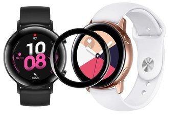 opaska pasek bransoleta SMOOTHBAND Huawei Watch GT 2 42MM biała + szkło 5D