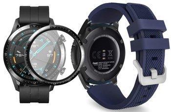 opaska pasek bransoleta SOFTBAND Huawei Watch GT 2 46MM MIDNIGHT BLUE +szkło 3D