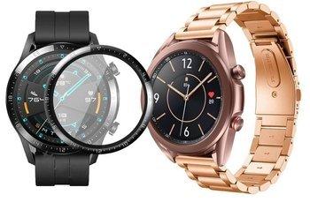 opaska pasek bransoleta STAINLESS Huawei Watch GT 2 46MM ROSE GOLD +szkło 3D