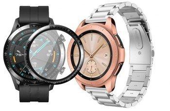 opaska pasek bransoleta STAINLESS Huawei Watch GT 2 46MM SILVER +szkło 3D
