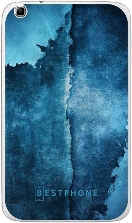 etui niebieski mur
