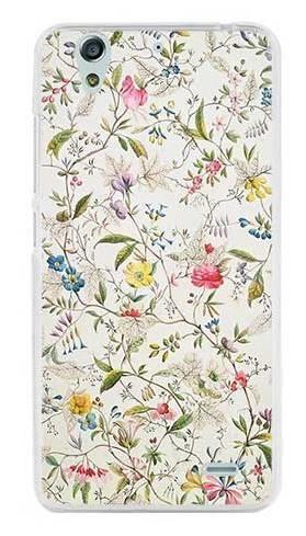etui białe kwiatki