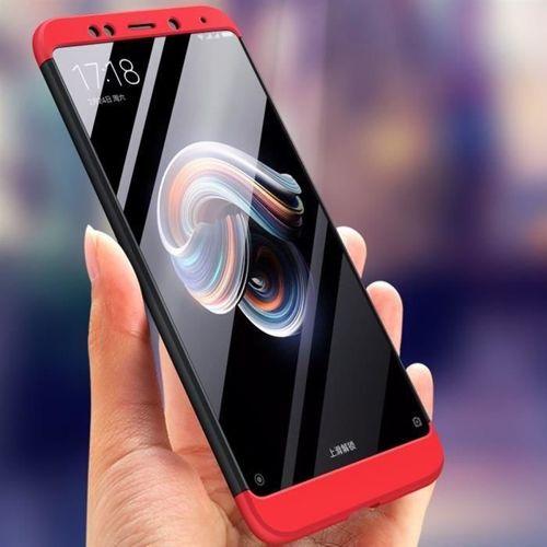 360 Protection etui na całą obudowę przód + tył Xiaomi Redmi Note 5 (dual camera) / Redmi Note 5 Pro czarno-srebrny