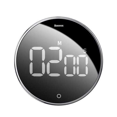 Baseus Heyo obrotowy minutnik czasomierz elektroniczny timer czarny (ACDJS-01)