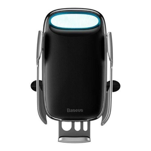 Baseus Milky Way samochodowa bezprzewodowa ładowarka Qi 15W elektryczny uchwyt na telefon srebrny (WXHW02-0S)