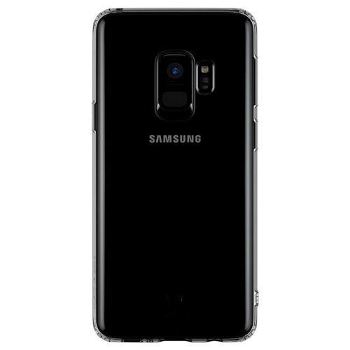 Baseus Simple Series Case przezroczyste żelowe etui Samsung Galaxy S9 G960 czarny (ARSAS9-01)
