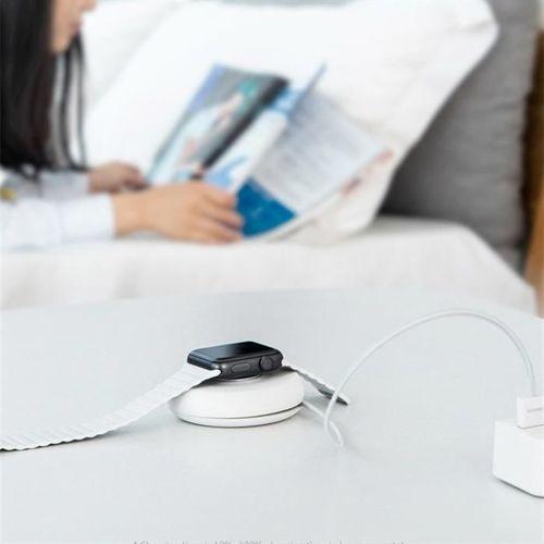 Baseus YOYO bezprzewodowa ładowarka indukcyjna Qi do Apple Watch z kablem 1m czarny (WXYYQIW03-01)