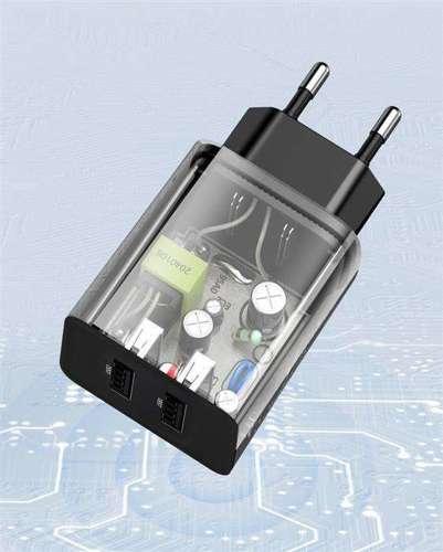 Baseus ładowarka sieciowa 2x USB 2.1A 10,5W czarny (CCFS-R01)