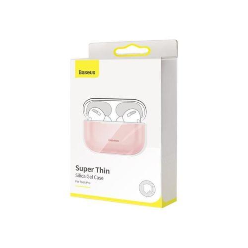 Baseus silikonowe etui case na słuchawki Apple AirPods Pro różowo-szary (WIAPPOD-BBZ4G)