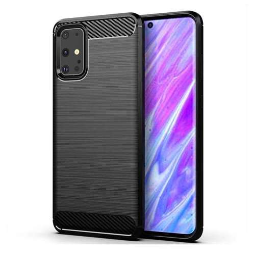 Carbon Case elastyczne etui pokrowiec Samsung Galaxy S20 Ultra czarny