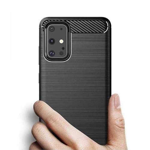 Carbon Case elastyczne etui pokrowiec Samsung Galaxy S20 czarny