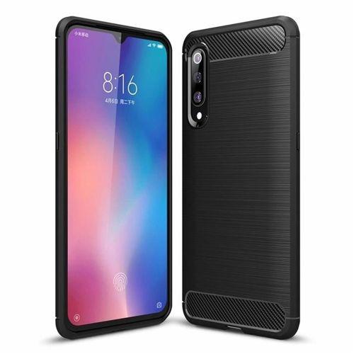 Carbon Case elastyczne etui pokrowiec Xiaomi Mi 9 czarny
