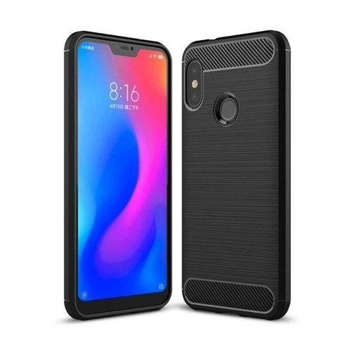 Carbon Case elastyczne etui pokrowiec Xiaomi Mi A2 Lite / Redmi 6 Pro czarny