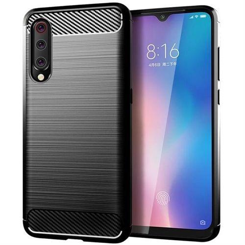 Carbon Case elastyczne etui pokrowiec Xiaomi Mi A3 / Xiaomi Mi CC9E czarny