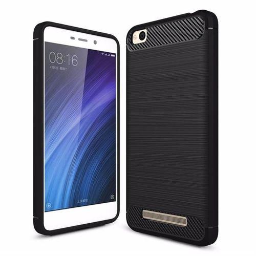 Carbon Case elastyczne etui pokrowiec Xiaomi Redmi 4A czarny