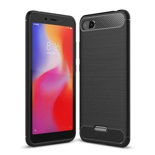 Carbon Case elastyczne etui pokrowiec Xiaomi Redmi 6A czarny