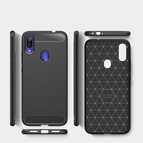 Carbon Case elastyczne etui pokrowiec Xiaomi Redmi 7 czarny