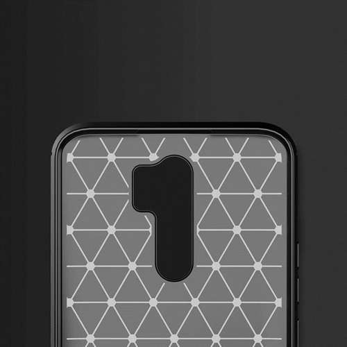 Carbon Case elastyczne etui pokrowiec Xiaomi Redmi 9 niebieski