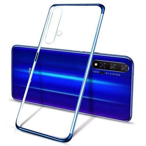 Clear Color case żelowy pokrowiec etui z metaliczną ramką Huawei Nova 5T / Honor 20 / Honor 20 Pro / Honor 20S niebieski