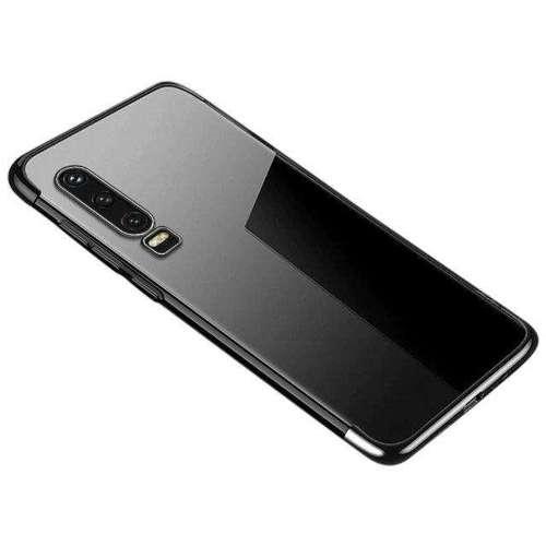 Clear Color case żelowy pokrowiec etui z metaliczną ramką Huawei P Smart Pro / Huawei Y9s czarny
