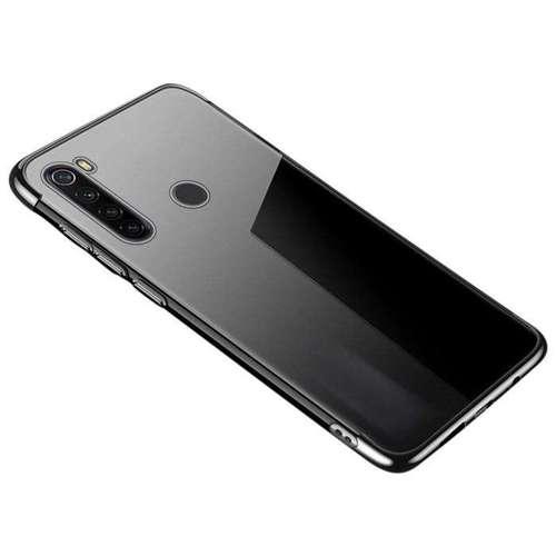 Clear Color case żelowy pokrowiec etui z metaliczną ramką Huawei P40 czarny