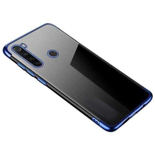 Clear Color case żelowy pokrowiec etui z metaliczną ramką Motorola G8 Play niebieski
