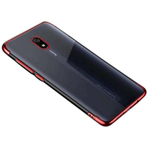Clear Color case żelowy pokrowiec etui z metaliczną ramką Xiaomi Redmi 8A czerwony