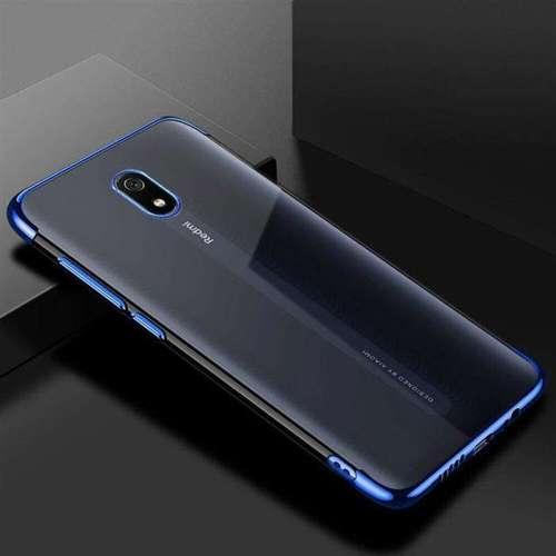 Clear Color case żelowy pokrowiec etui z metaliczną ramką Xiaomi Redmi 8A niebieski