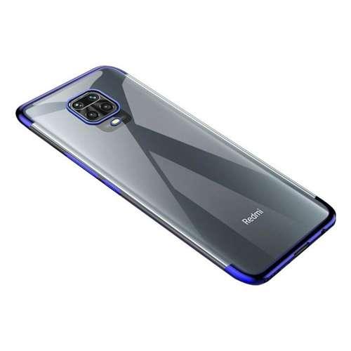 Clear Color case żelowy pokrowiec etui z metaliczną ramką Xiaomi Redmi Note 9 Pro / Redmi Note 9S niebieski