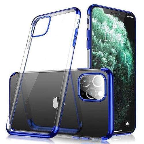Clear Color case żelowy pokrowiec etui z metaliczną ramką iPhone 11 niebieski