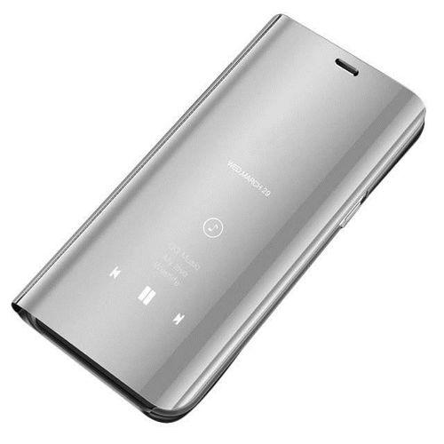 Clear View Case futerał etui z klapką Huawei P Smart 2019 srebrny