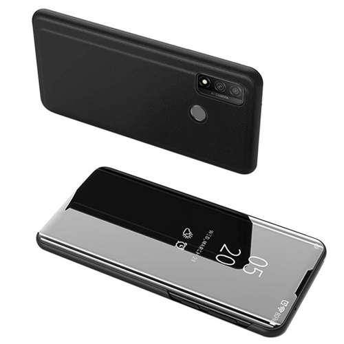 Clear View Case futerał etui z klapką Huawei P Smart 2020 czarny