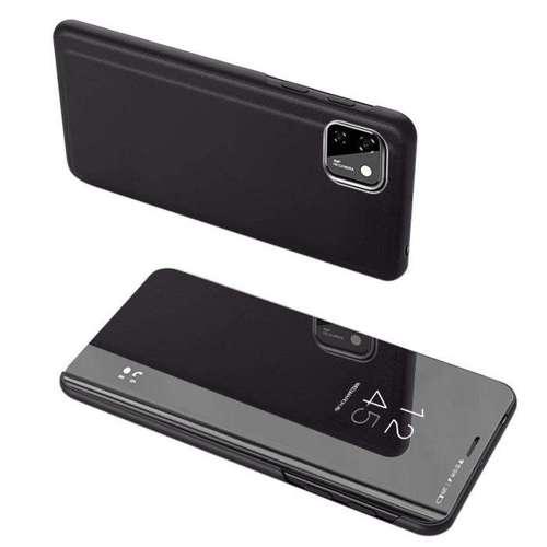 Clear View Case futerał etui z klapką Huawei Y5p czarny