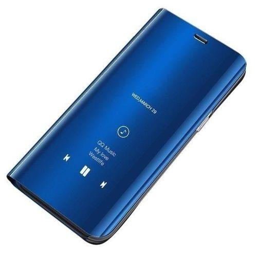 Clear View Case futerał etui z klapką Huawei Y7 2019 / Y7 Prime 2019 niebieski